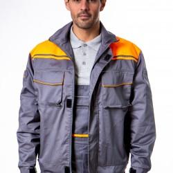 Radna bluza sivo-narandžasta