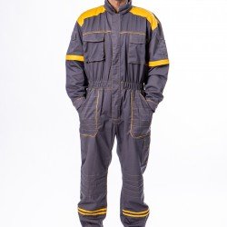 Radni kombinezon sivo-žuti