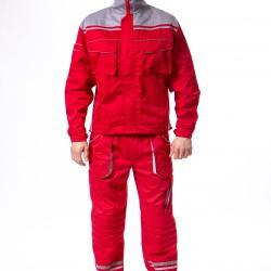 Radno odelo crveno-sivo