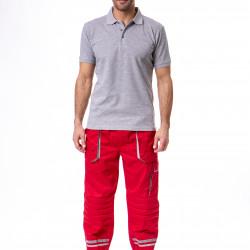 Radne pantalone crveno-sive
