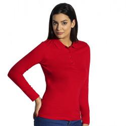 UNA LSL - Ženska pamučna polo majica dugih rukava