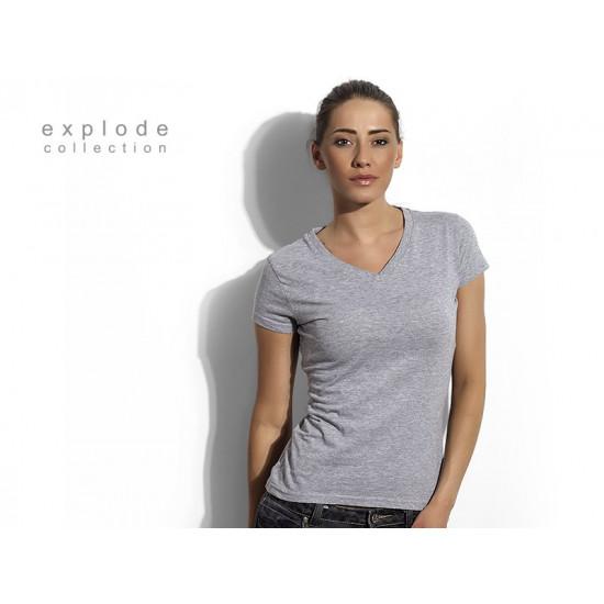 VIOLA - Ženska pamučna majica sa V-izrezom
